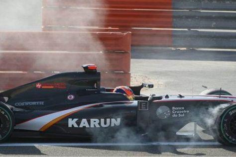 In Bahrain war das Rennen für Karun Chandhok schon nach einer Runde vorbei