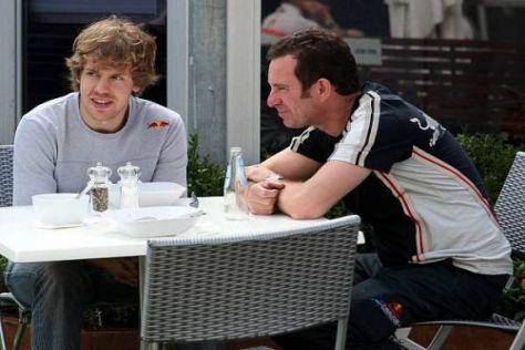 Sebastian Vettel ist vor dem Rennen in Melbourne recht entspannt