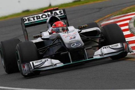 Michael Schumacher zeigte sich mit seinem Auto deutlich glücklicher