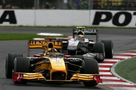 Renault vor der Konkurrenz: Robert Kubica will diesen Trend möglichst fortsetzen...