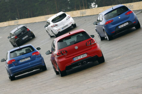 VW Golf R Audi S3 BMW 130i Mazda3 MPS Seat Leon Cupra R