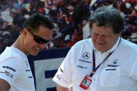 Wollen dem Stern viel Glanz verleihen: Michael Schumacher und Norbert Haug