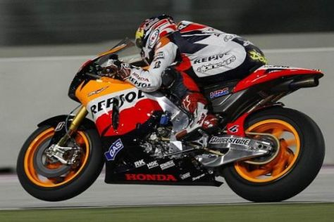Andrea Dovizioso dreht auch in dieser Saison für das Honda-Team am Gashahn