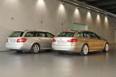 BMW 5er Touring Mercedes E-Klasse T-Modell