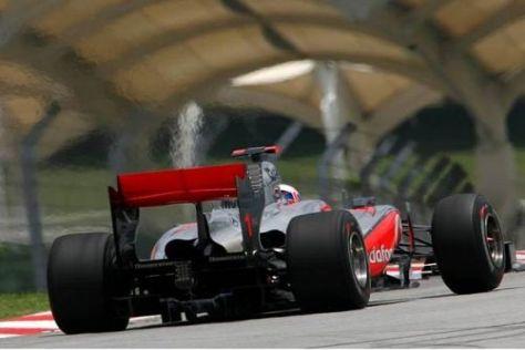 Jenson Button war zwar in den Zeitenlisten vorne, aber nicht zufrieden