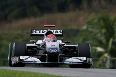 Michael Schumacher fühlte sich im MGP W01 in Sepang schnell wohl