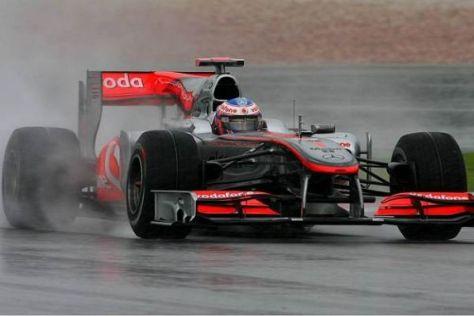 Jenson Button hätte weiterfahren können - steckte aber im Kies