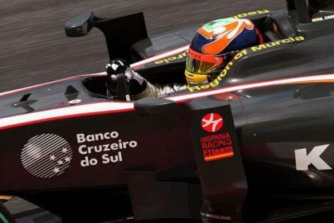 HRT-Pilot Karun Chandhok beendete das Rennen von Sepang auf dem 15. Platz