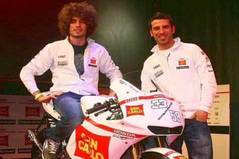 Marco Simoncelli und Marco Melandri (r.) sind das neue Gresini-Duo 2010