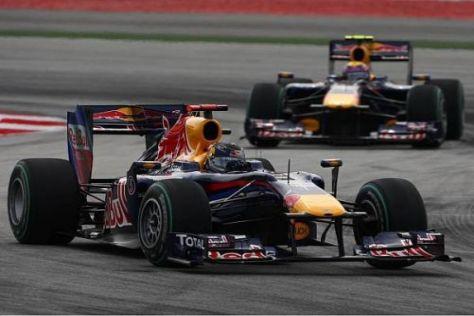 Sebastian Vettel vor Mark Webber: Red Bull feierte einen Doppelsieg in Sepang