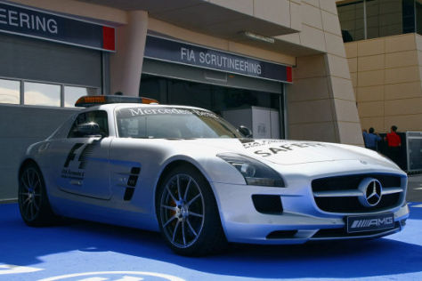 formel 1 das safety car mercedes sls amg. Black Bedroom Furniture Sets. Home Design Ideas