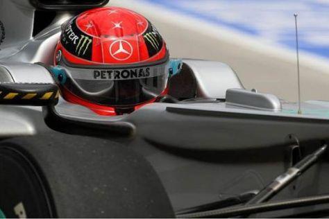 Noch herrscht zwischen Schumacher und den Pneus keine Harmonie