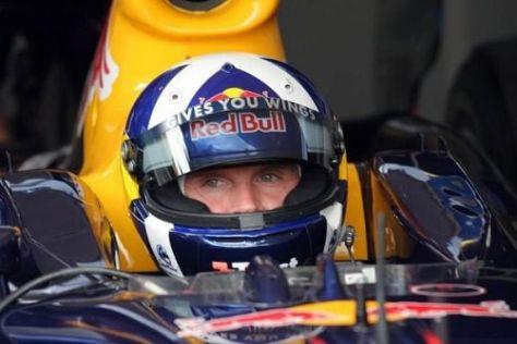David Coulthard nahm am Samstag einmal mehr im Red-Bull-Showauto Platz