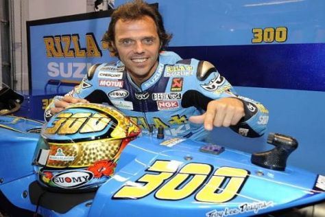 Vor dem Start in den 300. Grand Prix war Loris Capirossi noch bester Dinge