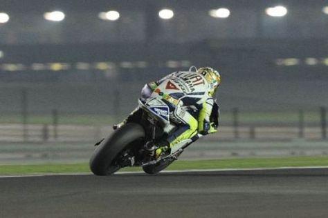 Valentino Rossi würde den Gegnern gern sein Hinterrad an der Yamaha zeigen