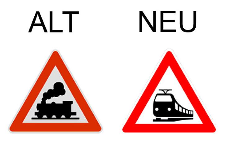 verkehrszeichen bahnübergang in  verkehrszeichen der