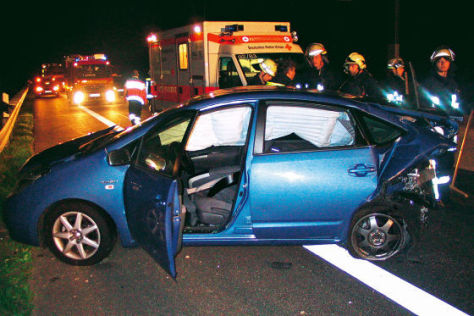 Unfall mit Hybridauto