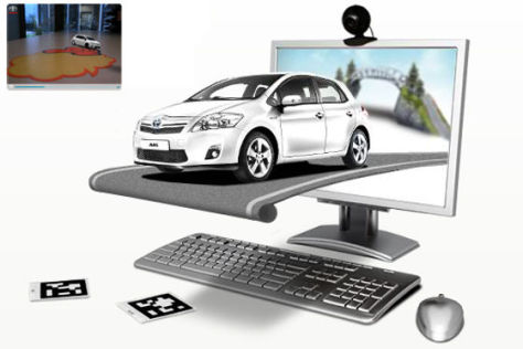 Toyota Auris Hybrid Augmented Reality