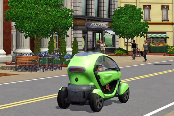 renault twizy z e in computerspiel sims 3. Black Bedroom Furniture Sets. Home Design Ideas