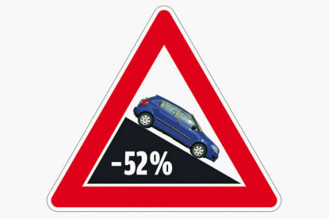 Grafik Zulassungen -52 %