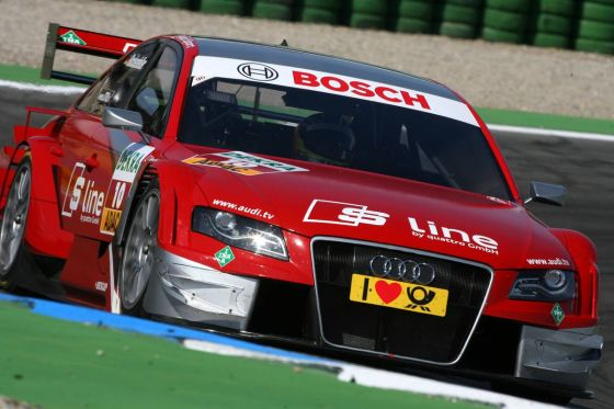 23.04.2010 Hockenheim, Germany,  Mike Rockenfeller (GBR), Audi Sport Team Phoenix, Audi A4 DTM - DTM 2010 at Hockenheimring, Hockenheim, Germany - www.xpb.cc, EMail: info@xpb.cc - copy of publication required for printed pictures. Every used picture is fee-liable. © Copyright: Miltenburg/xpb.cc