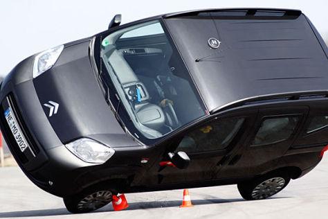 Citroën Nemo versagt beim Elchtest
