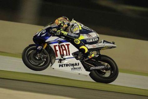 Valentino Rossis Yamaha fehlt es auf der Geraden noch an Motorpower
