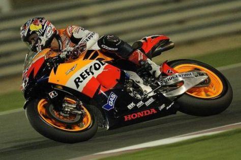 Andrea Dovizioso fuhr mit seiner Honda 2010 auf Anhieb auf das MotoGP-Podium