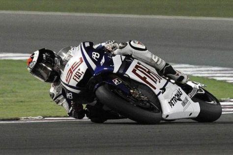 Jorge Lorenzo erreichte beim Auftakt der MotoGP-Saison 2010 den zweiten Platz