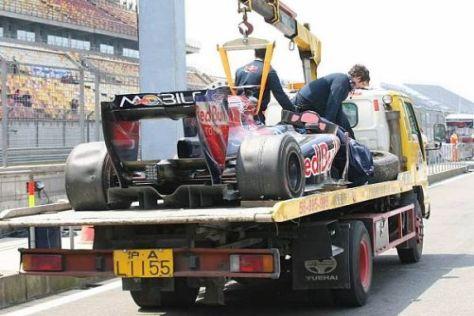 Sébastien Buemi hatte bei seinem Crash am Vormittag mehrere Schutzengel