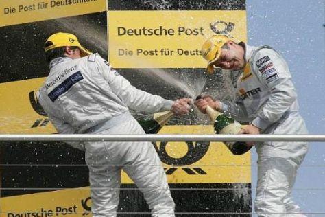 Gary Paffett und Bruno Spengler genossen eine ausgiebige Dusche