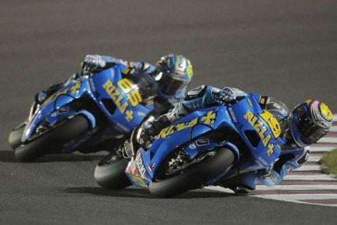 Álvaro Bautista und Loris Capirossi freuen sich das Wochenende in Jerez