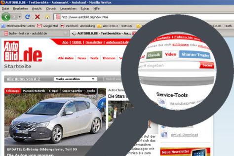 Neue Suchfunktion bei autobild.de
