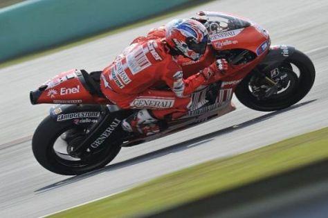 Casey Stoner sicherte sich am Freitag die Bestzeit in Jerez
