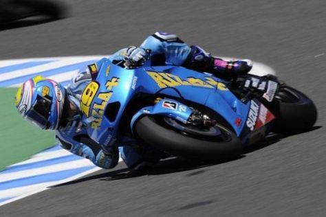 Álvaro Bautista kämpfte sich auf seiner GSV-R auf Platz zehn und in die Punkte