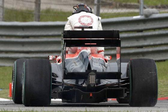 Ende einer Dienstfahrt. Auch der GP Malaysia war für Timo Glock frühzeitig beendet.