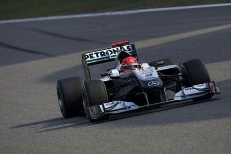 Michael Schumacher und Mercedes haben den W01 für Spanien verbessert