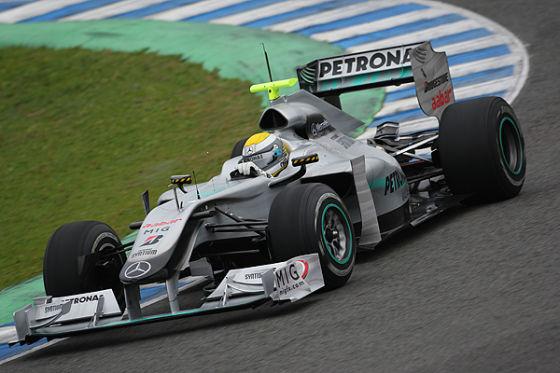 ...Nico Rosberg musste bis zum Barcelona GP warten