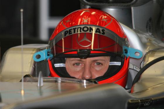 Michael Schumacher im Mercedes B-Auto
