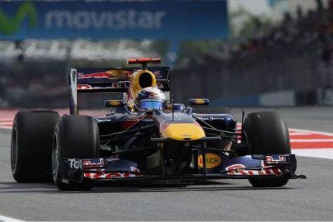Sebastian Vettel ist zufrieden, auch wenn er der Bestzeit nicht viel beimisst