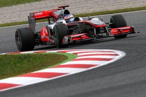 Jenson Button ist mit Fahrverhalten seines Autos noch nicht zufrieden