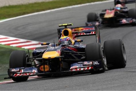Das Red-Bull-Team scheint in Barcelona in einer eigenen Liga zu fahren