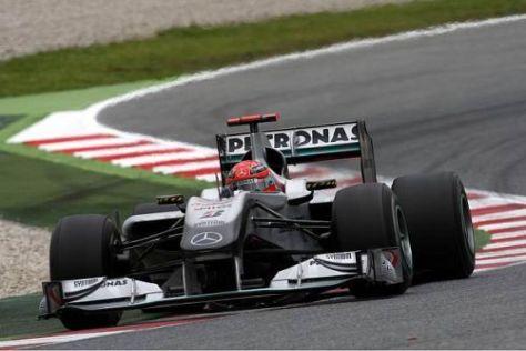 Alleine optisch konnte man sehen, dass sich Schumacher im Auto wohler fühlt