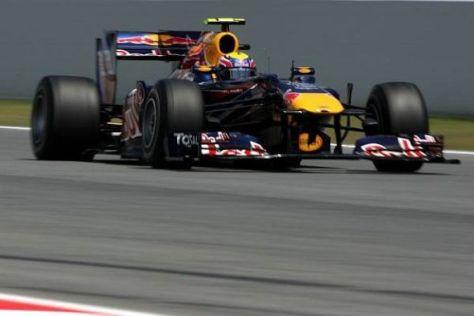 Mark Webber war einen Tick schneller als Sebastian Vettel