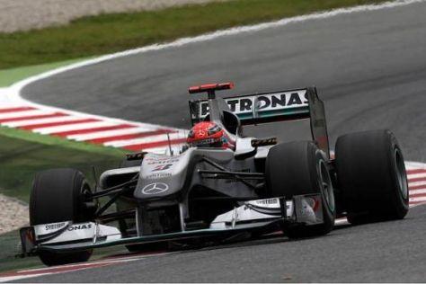 Michael Schumacher fühlt sich im Auto wohl, ist aber auch nicht schnell genug