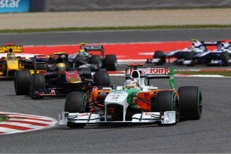 Adrian Sutil gelang es schon am Start, sich um drei Plätze nach vorn zu arbeiten