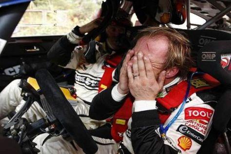 Strommast statt Sieg: Petter Solberg schied kurz vor dem Ziel aus
