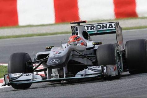 Michael Schumacher tankte mit Platz vier in Barcelona einiges an Selbstvertrauen