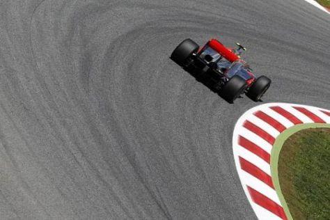 Lewis Hamilton kam beim Rennen in Spanien nicht über die Distanz - die Felge...