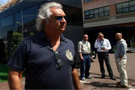 Wieder da: Flavio Briatore im Paddock des Grand Prix von Monaco